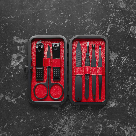 Luxury Manicure Set // Red (7 Piece Set)