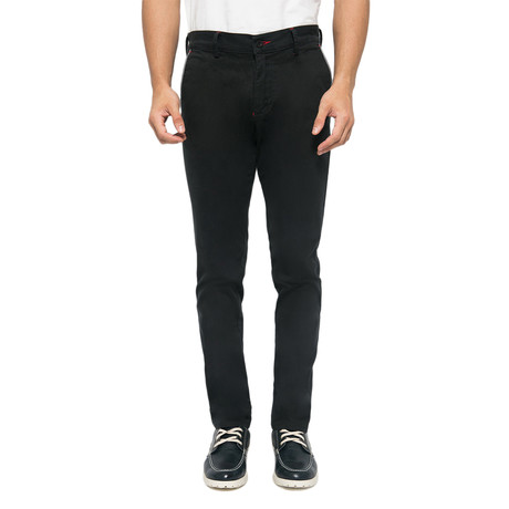 Brandon Cross Pockets Stretch Chinos // Black (30WX32L)
