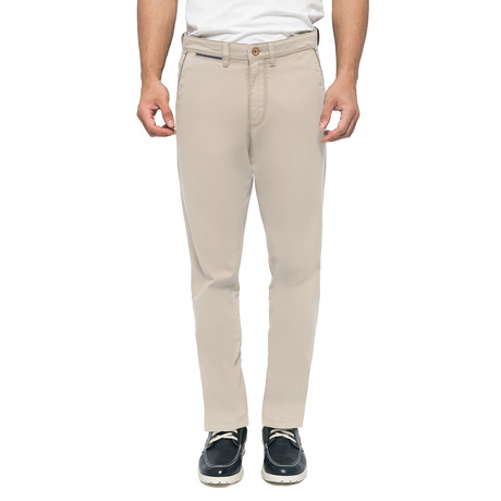 Brandon Cross Pockets Stretch Chinos // Cream (30WX32L)