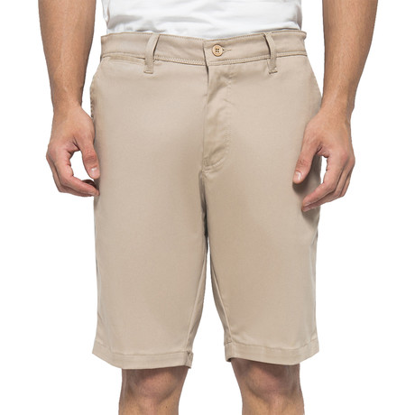 Chinos Stretch Shorts // Light Khaki (30)