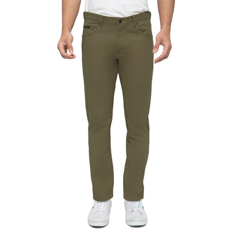 Travis 5-Pockets Stretch Chinos // Army Olive (30WX32L)