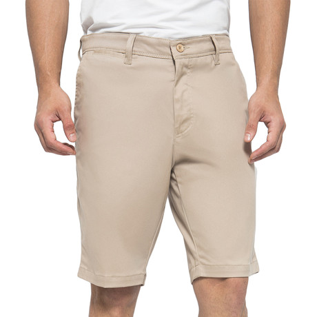 Twill Stretch Shorts // Light Khaki (30)