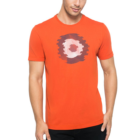 Circular Printed T-Shirt // Dark Orange (S)