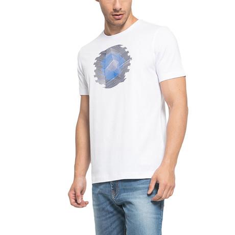Circular Printed T-Shirt // White (S)