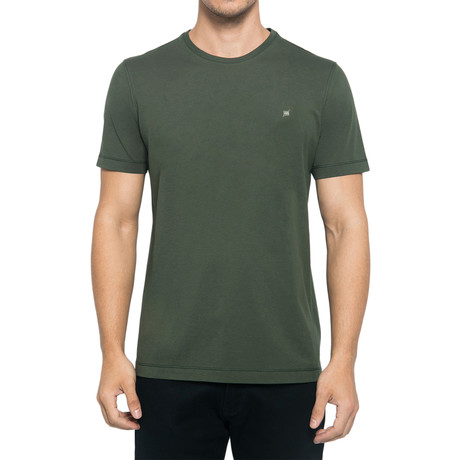 Crew-Neck Logo T-Shirt // Army Green (S)