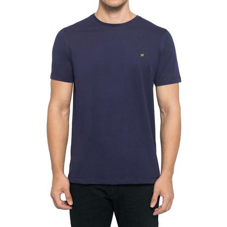 Crew-Neck Logo T-Shirt // Dark Blue (S)