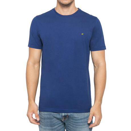 Crew-Neck Logo T-Shirt // Deep Blue (S)