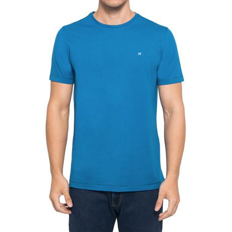 Crew-Neck Logo T-Shirt // Blue Sapphire (S)