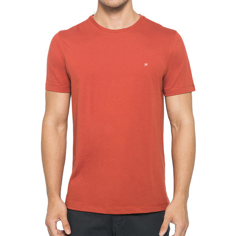 Crew-Neck Logo T-Shirt // Brick (S)