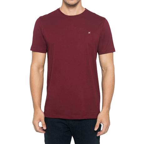 Crew-Neck Logo T-Shirt // Dark Maroon (S)
