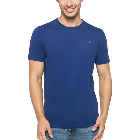 Supima Logo Crew-Neck T-Shirt // Deep Blue (S)
