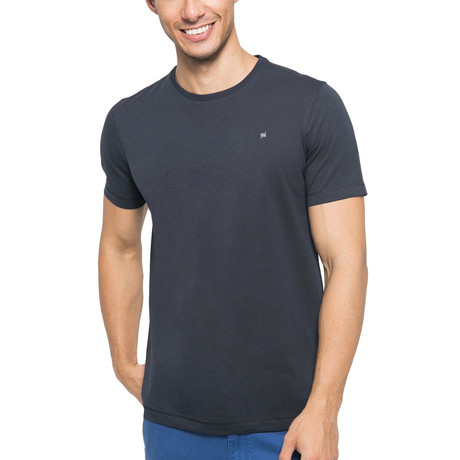 Supima Logo Crew-Neck T-Shirt // Dark Gray (S)