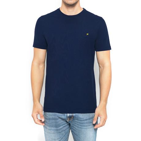 Supima Logo Crew-Neck T-Shirt // Midnight Blue (S)