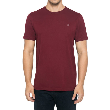 Supima Logo Crew-Neck T-Shirt // Dark Maroon (S)