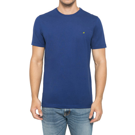 Supima Light Logo Crew-Neck T-Shirt // Deep Blue (S)