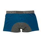 Boxer Briefs // Blue + Heather Charcoal Gray (S)