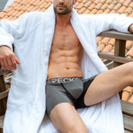 Boxer Briefs // Heather Charcoal Gray + Black (M)