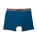 Mid-Rise Boxers // Blue + Heather Charcoal Gray (L)