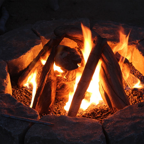 "24"" Driftwood Fire Pit Kit"