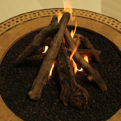 "18"" Table Top Driftwood Log Set"