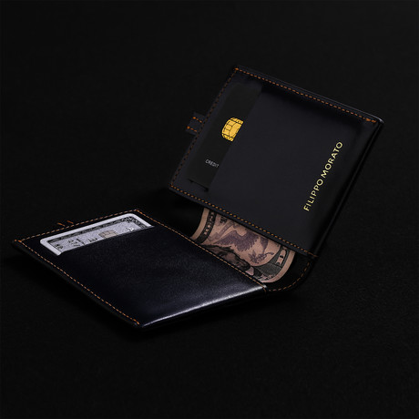 Wallet + Chipolo Card Tracker // Midnight Blue