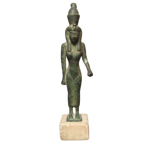 Egyptian Bronze Figure Of Mut // C. 664 - 332 BC