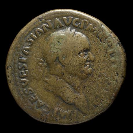 Vespasian Large Bronze Coin // Ancient Rome