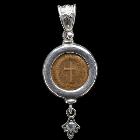 Ancient Roman Cross Coin // Custom Silver Bezel
