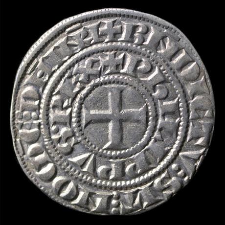 Knights Templar France Silver Coin // Crusades