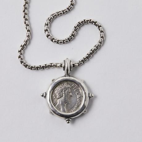 Roman Coin Of Commodus // Silver Pendant