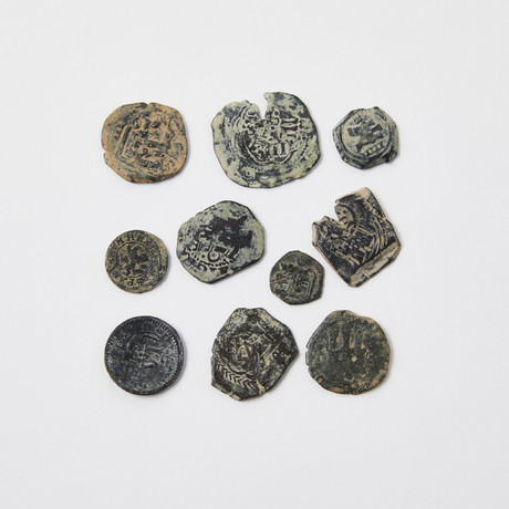 Spanish Pirate Money Coins // Set of 10 // 1474-1700 AD