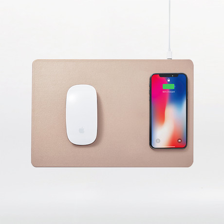 HANDS 3 // Wireless Charging Mouse Pad (Dust Gray)