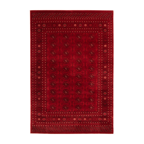 "Bokhara // Red (5'3""W x 8'L)"