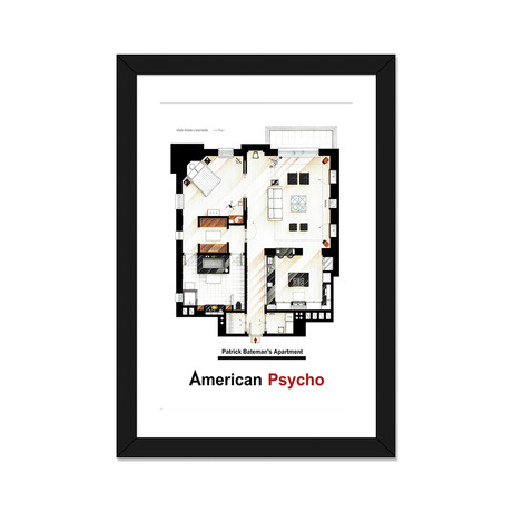 "Apartment From American Psycho (16""W x 24""H x 1""D)"