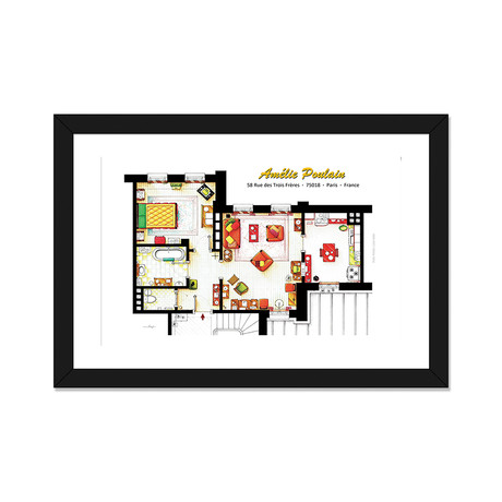 "Apartment From Amelie In Paris (24""W x 16""H x 1""D)"
