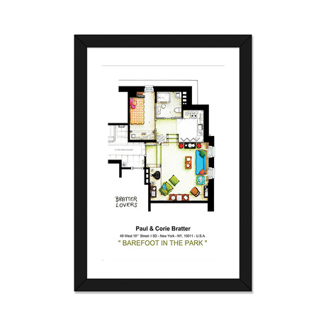"Apartment From Barefoot In The Park (16""W x 24""H x 1""D)"