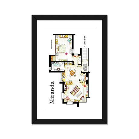 "Apartment From BBC's Miranda Series (16""W x 24""H x 1""D)"