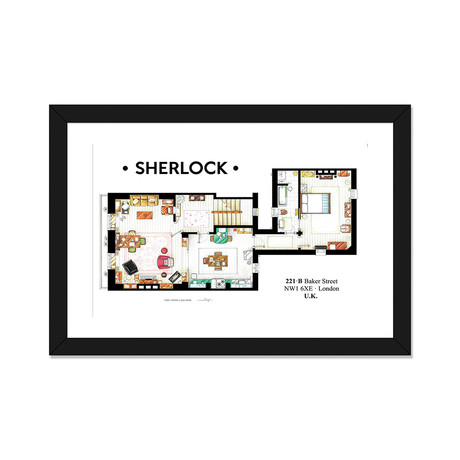 "Apartment From BBC's Sherlock Series (24""W x 16""H x 1""D)"