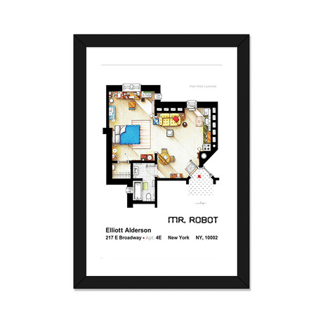 "Apartment From Mr Robot (16""W x 24""H x 1""D)"