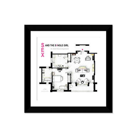 "Apartment From Sex And The Single Girl (16""W x 16""H x 1""D)"