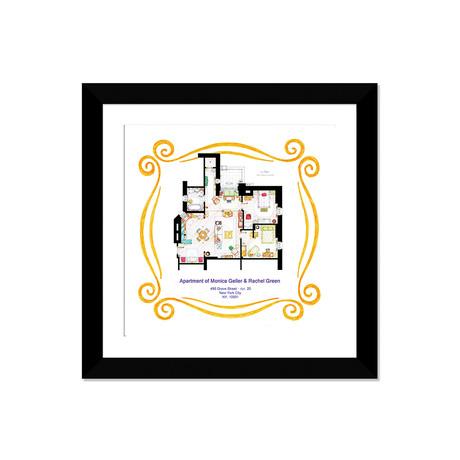 """Apartment Of Monica & Rachel From Friends (16""""W x 16""""H x 1""""D)"""