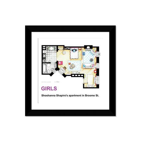 "Apartment Of Shoshanna Shapiro From Girls (16""W x 16""H x 1""D)"