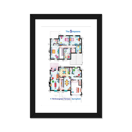 "House From The Simpsons // Poster Version (16""W x 24""H x 1""D)"