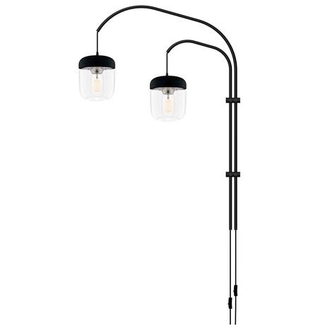 Acorn // LED Double Swing Arm Wall Lamp (Steel)
