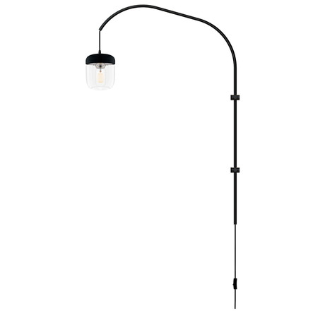 Acorn // LED Single Swing Arm Wall Lamp (Steel)