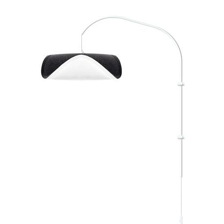 Sine // 1-Light Swing Arm Wall Lamp (White)