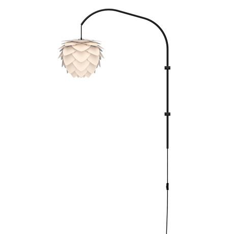 Aluvia Mini // 1-Light Swing Arm Wall Lamp (Pearl)