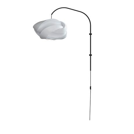 Ribbon Medium // Single Swing Arm Wall Lamp (White)