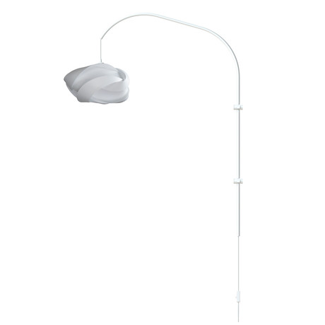 Ribbon Mini // Single Swing Arm Wall Lamp (White)