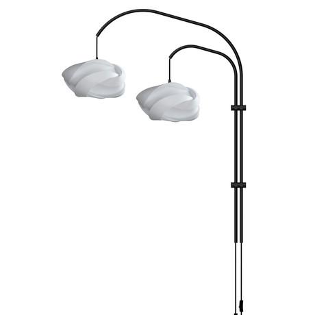 Ribbon Mini // Double Swing Arm Wall Lamp (White)